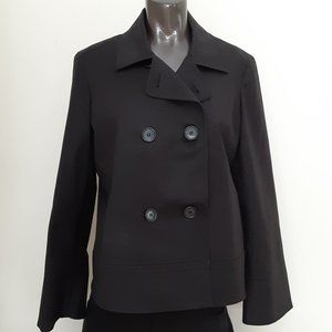 Anne Klein Stretch Double Breasted Black Jacket 10